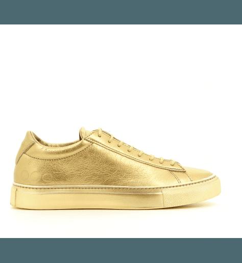 Sneakers plates cuir argent 003OR- Primaforma