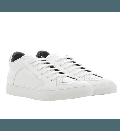Sneakers plates en cuir blanc S59WS0018H/100- MM6 Martin Margiela