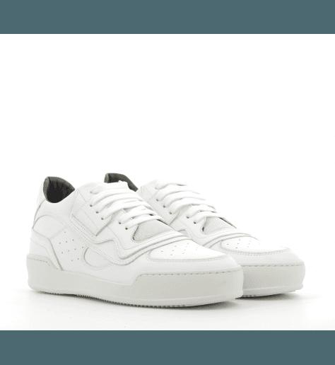 Sneakers plates en cuir blanc S40WS0055/100 - MM6 Martin Margiela