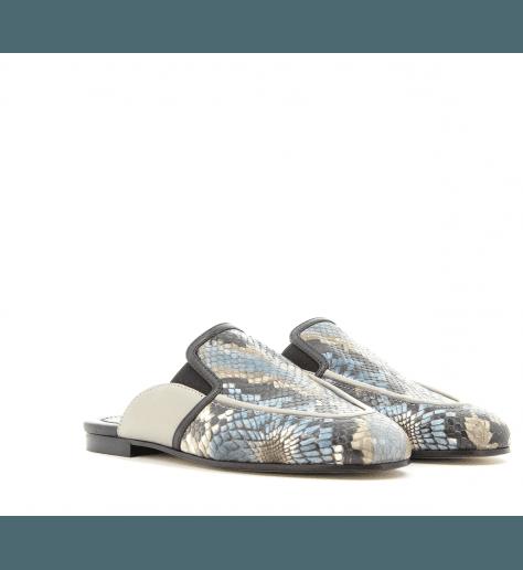 Mules en cuir multicolor 610B- Grey Mer