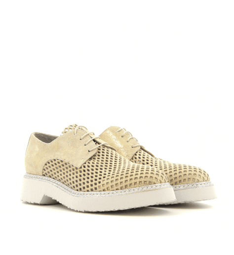 Derbies  en cuir platine 3516PL- Garrice Collection