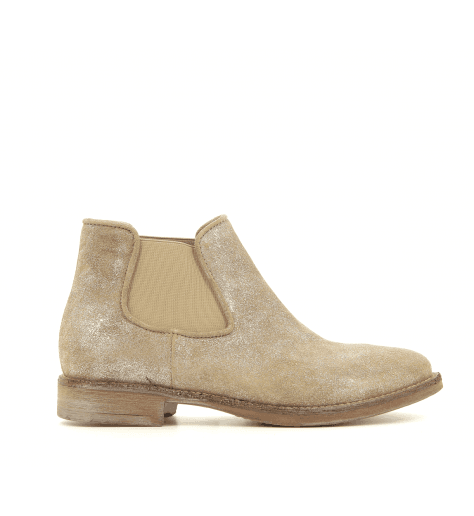 Bottines chelsea beige irisé  3652- Garrice Collection