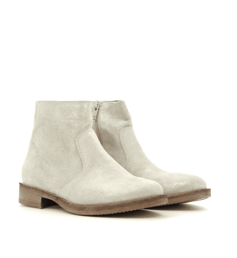 Bottines en daim irisé platine 3649 - Garrice collection