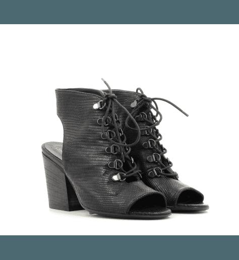 Sandales open toe noir 3896- Garrice Collection