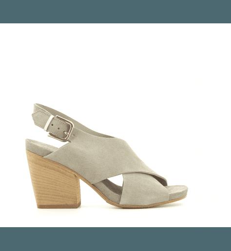 Sandales en velours kaki 3905K- Garrice Collection