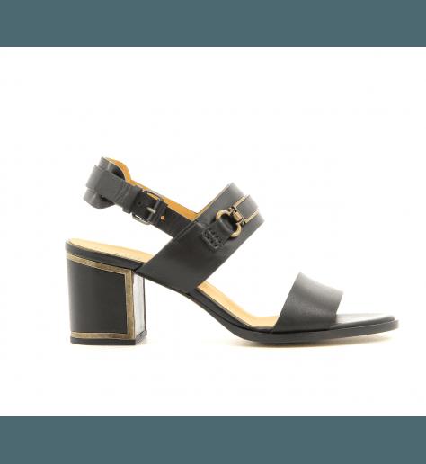 Sandales en cuir noires VB28042 - Veronique Branquinho