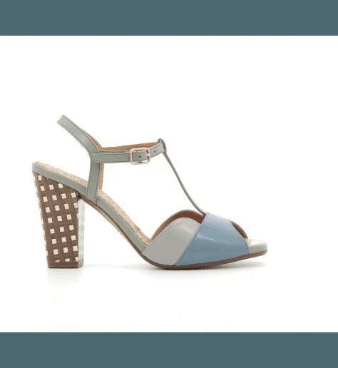 Sandales à talons en cuir bleu AGADIR - Chie Mihara