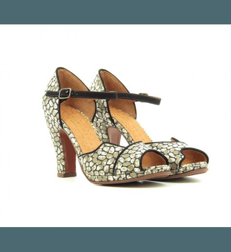 Sandales à talons en imprimé fleuri Fan30 - Chie Mihara