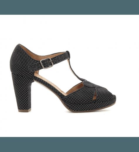 Sandales à talons avec plateformes noir GIKI - Chie Mihara