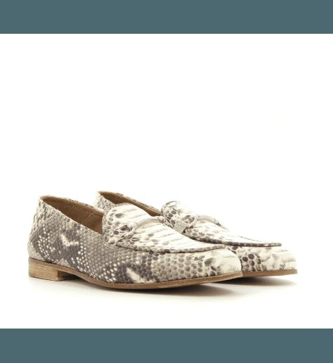 Mocassins en cuir estampillé python 1319PY - Garrice Collection
