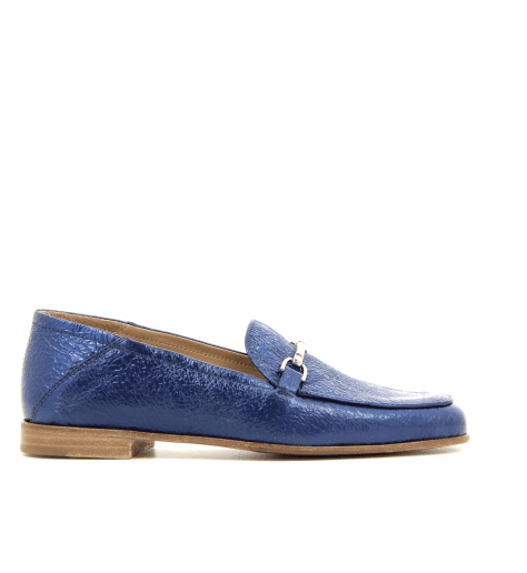 Mocassins en cuir bleu 1319BL - Garrice Collection