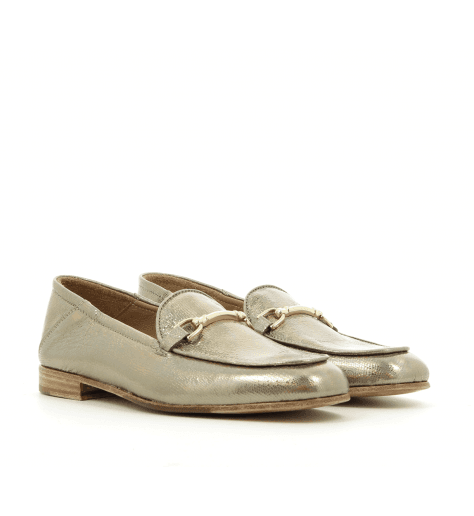 Mocassins en cuir platine 1319PL - Garrice Collection