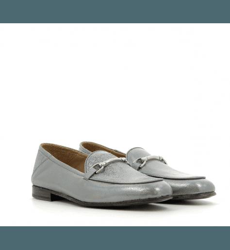 Mocassins en cuir platine 1319AN - Garrice Collection