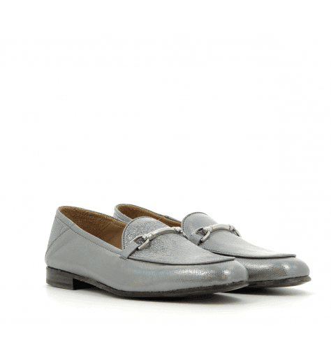 Mocassins en cuir argent 1319AR - Garrice Collection