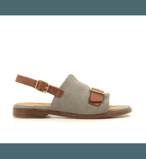 Sandales plates en cuir gris QUERETE1  - Chie Mihara