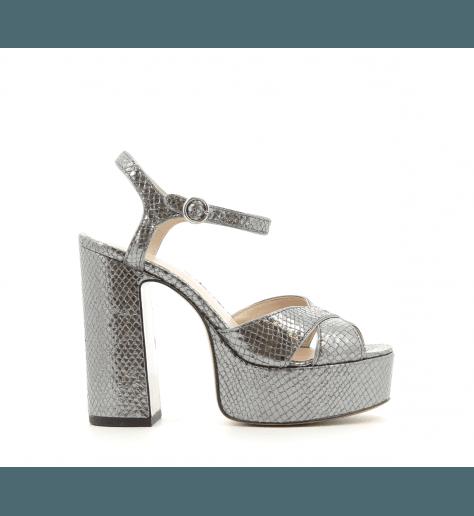 Sandales à talons avec patins anthracite LUST - MARC JACOBS