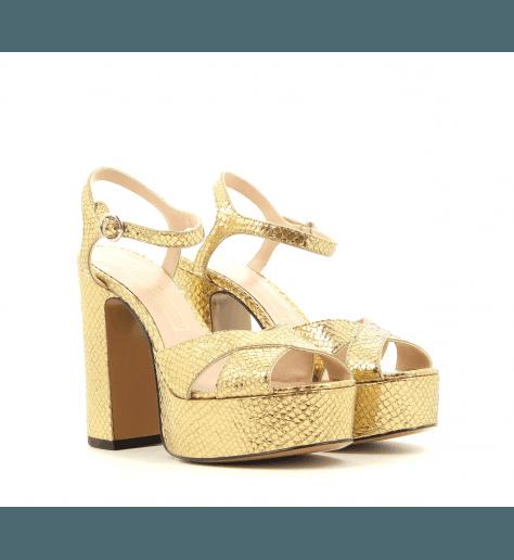 Sandales à talons avec patins doré LUST - MARC JACOBS