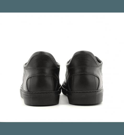 Sneakers plates en cuir noir S59WS0018H/900- MM6 Martin Margiela