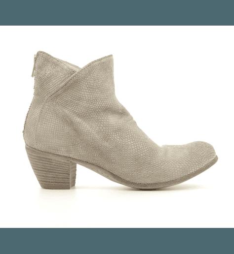 Bottines / boots à talons en cuir gris CHABROL/039 - Officine Creative