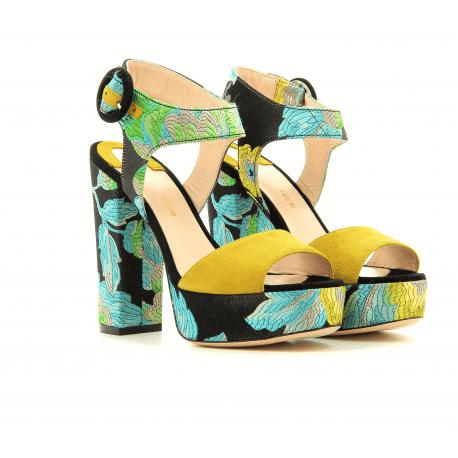 Sandales à talons plateformes multicolor 4139007- Garrice Collection