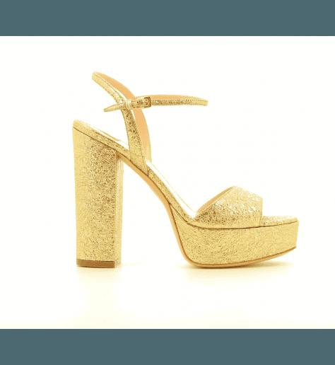 Sandales à talons plateformes platine 4139001- Garrice Collection