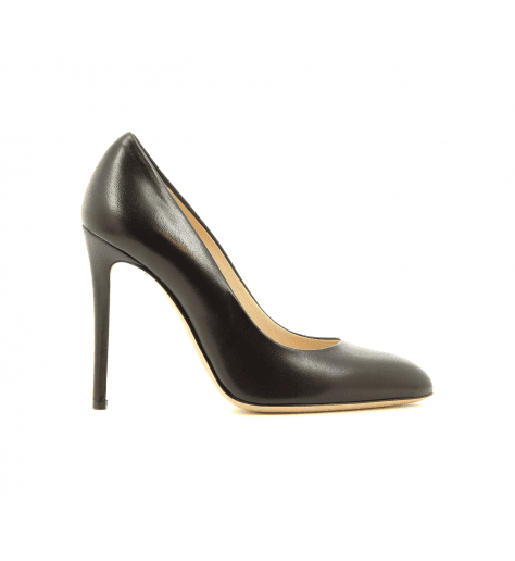 Escarpins en cuir noir 4158001N - Garrice Collection