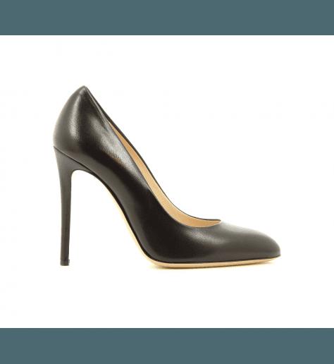 Escarpins en cuir noir 4158001N - Garrice Collection