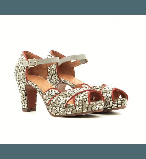 Sandales à talons avec plateformes vert ISY - Chie Mihara