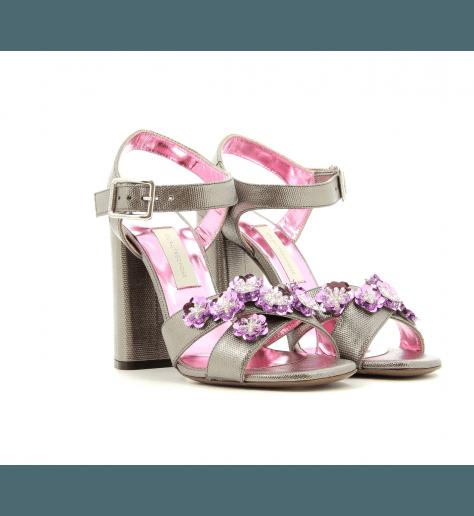 Sandales à talons grise  LDE168GR - L'Autre Chose