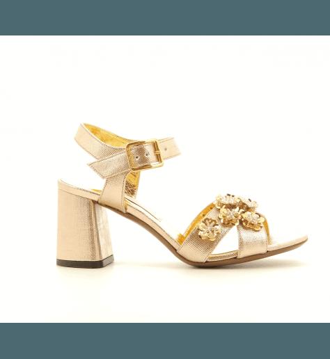 Sandales à talons doré  LDE168DO - L'Autre Chose