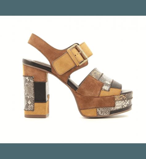 Sandales à plateforme Patchwork SB28184 - See By Chloé