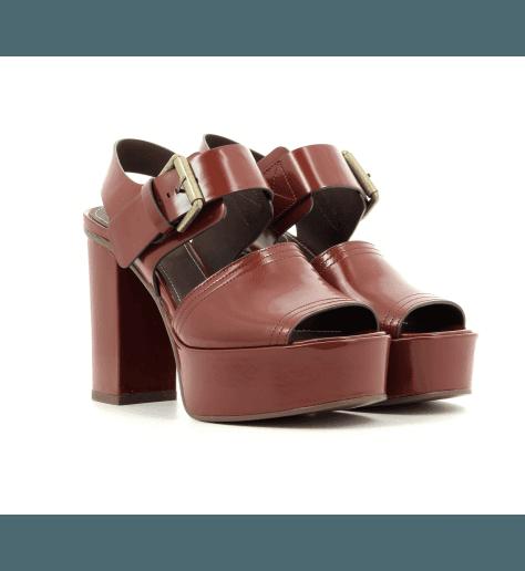 Sandales à plateforme cognac SB28181- See By Chloé