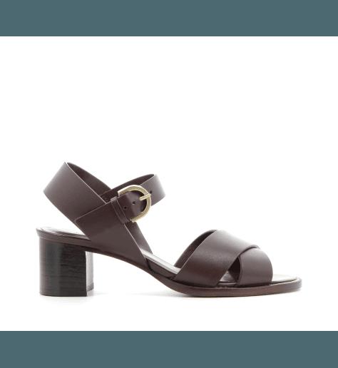 Sandales à talons bordeaux PAQUES - Avril Gau