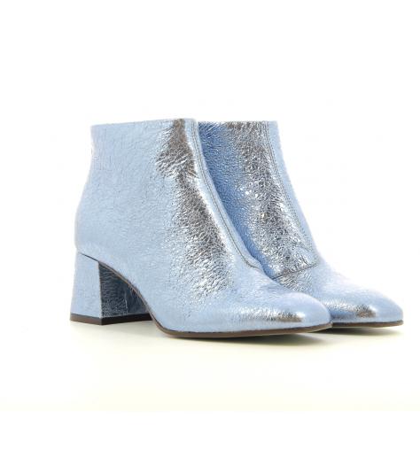 Bottines en cuir bleu D0414  - Paola D'Arcano