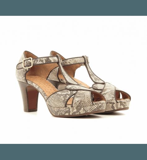 Sandales à talons avec plateformes estampillé python IGI - Chie Mihara