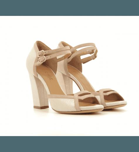 Sandales à talons en daim nude rosé LAIAN- Chie Mihara