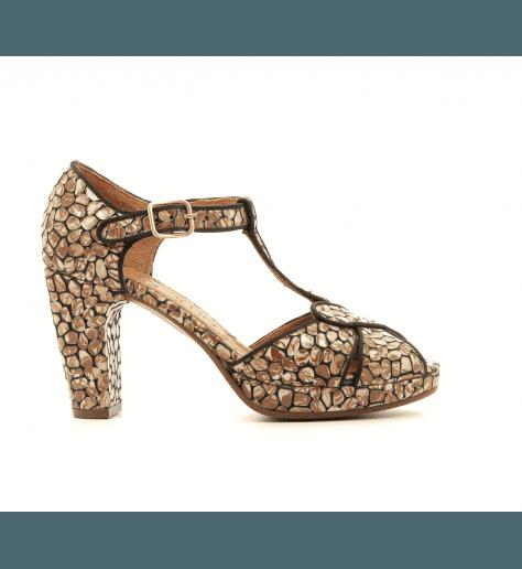 Sandales à talons avec plateformes marron GIKI2 - Chie Mihara