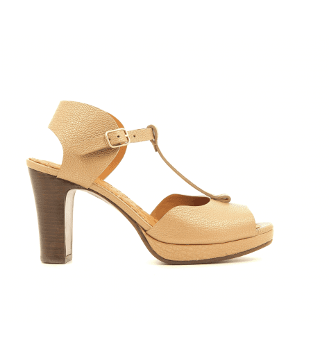 Sandales à talons en cuir nude NISSA-C30- Chie Mihara