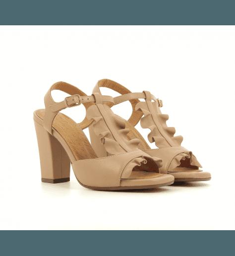 Sandales à talons en cuir rose AUBO - Chie Mihara