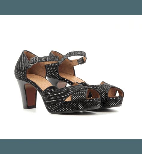 Sandales à talons avec plateformes noir ISY-C3 - Chie Mihara