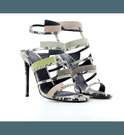 Sandales à talons multicolor Gaia 707V - GreyMer