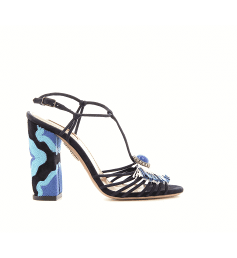 Sandales marine à talons Samba sandal105 - Aquazzura