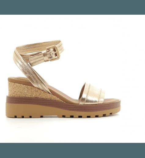 Sandales doré à semelles compensées SB26094 - See By Chloe