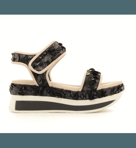Sandales à plateforme nudec et noir 722 - GreyMer