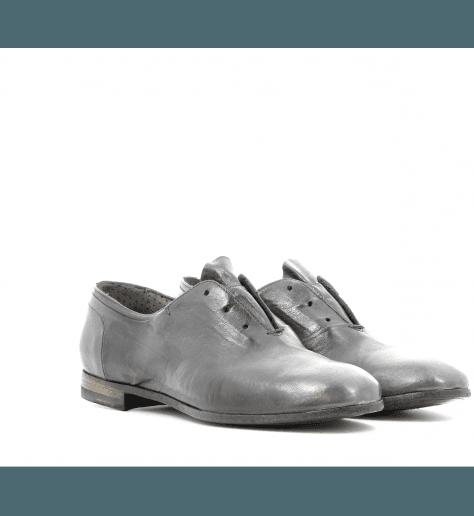 Derbies plates en cuir gris 9313GR - Silvano sassetti