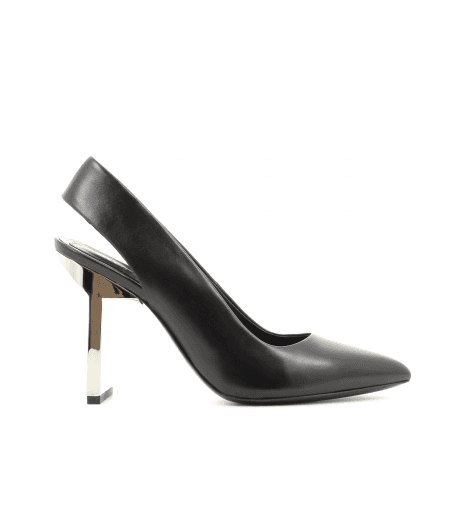 Escarpins pointus à talons en cuir noir RUNWAY1- Kenzo