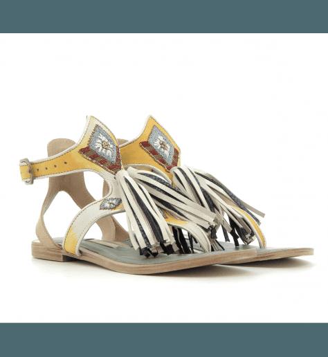 Sandales en cuir jaune TIKI SOFIA1 - Meher Kakalia