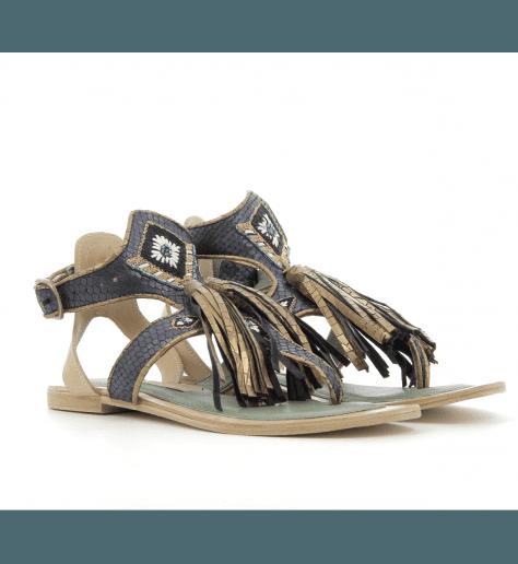 Sandales en cuir bleu TIKI SOFIA2 - Meher Kakalia