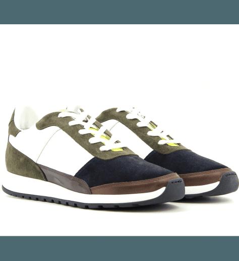 Sneakers en cuir Kaki CALLAO5- Piola