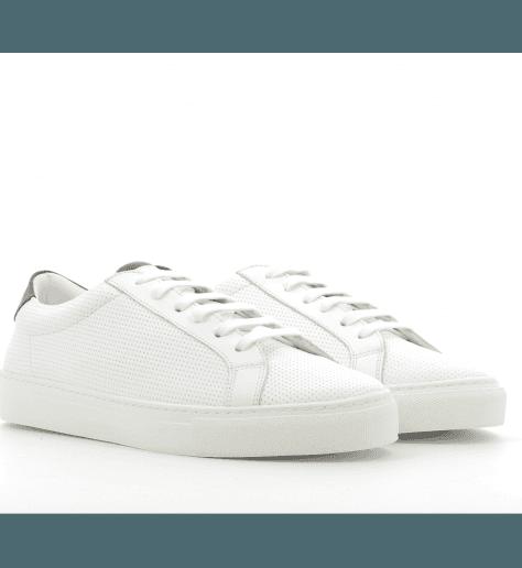 Sneakers en cuir blanc ICA3- Piola